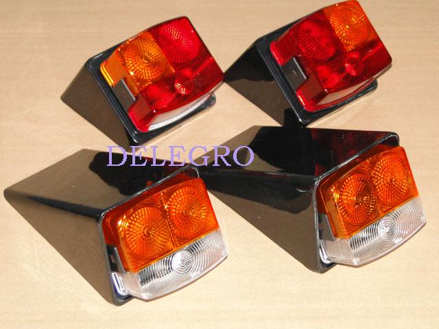 2x Blinkleuchte Rückleuchte wovon 1x mit Kenzeichenbeleuchtung Traktor D//M+O